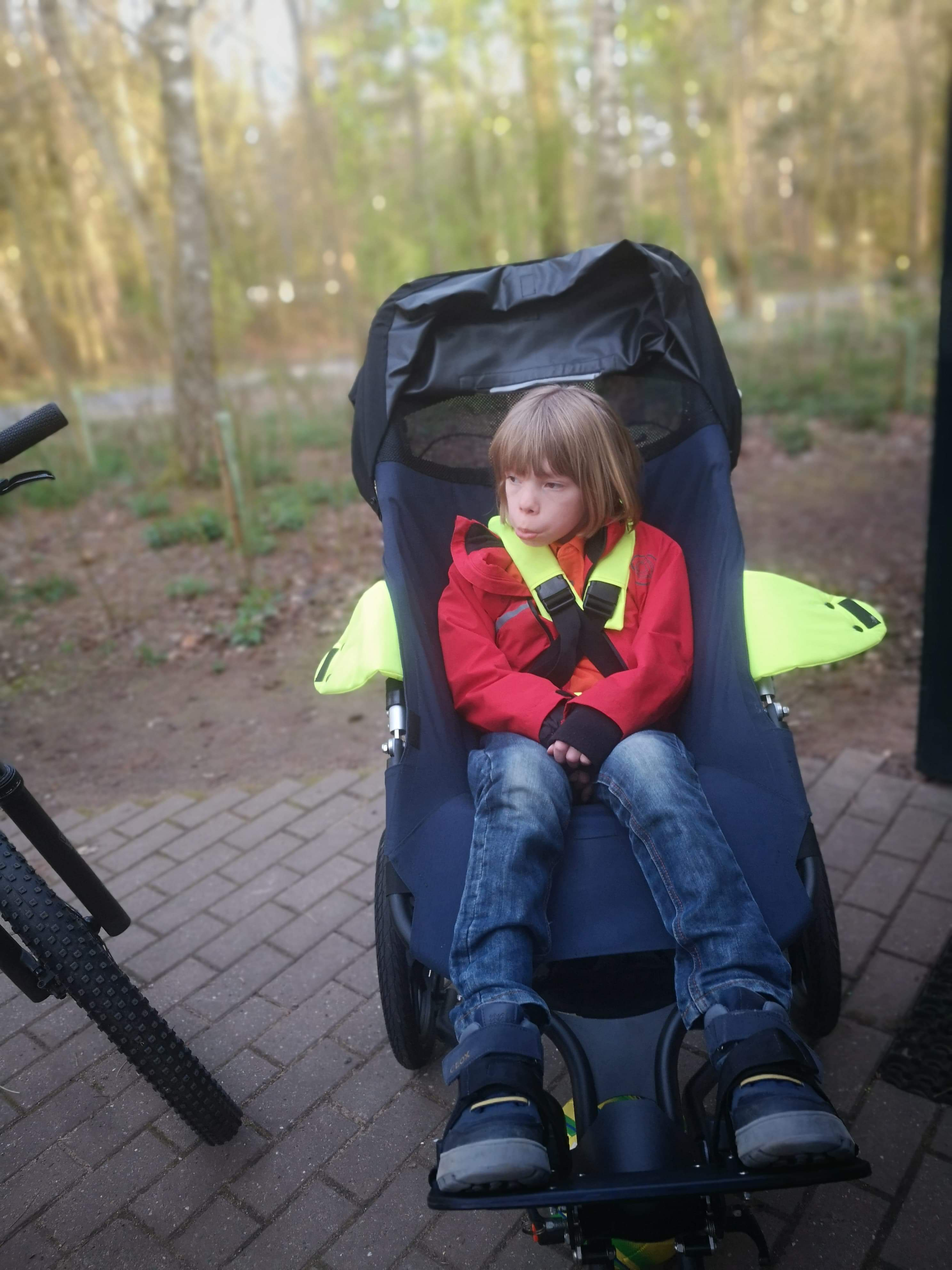Image of child in the All Terrain Buggy