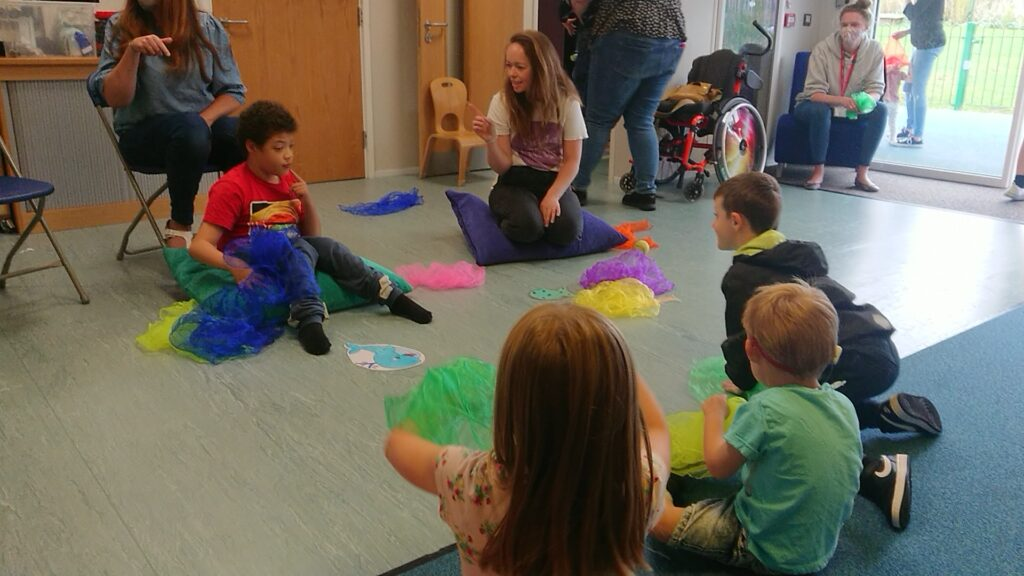 Families enjoying the Made With Music session